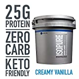 Isopure Zero Carb, Keto Friendly Protein Powder, 100% Whey Protein Isolate, Flavor: Creamy Vanilla,...