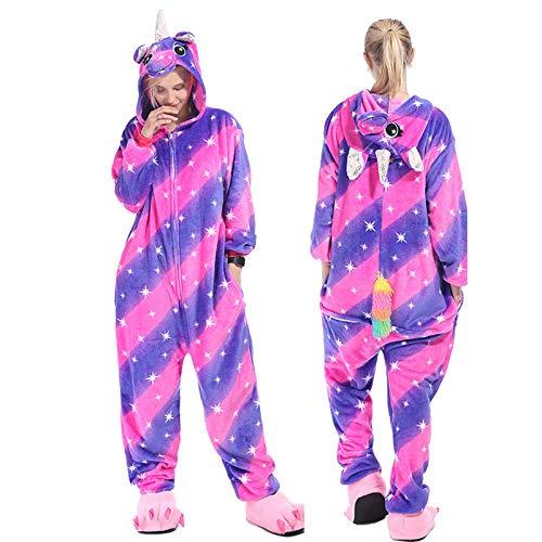 meimie00 Unisex Animal Volwassenen Halloween Pyjama Cosplay Kostuum met capuchon Loungewear