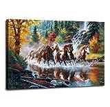 Moyedecor Art Wandbild, 3-teilig, Wald-Landschaft,