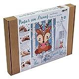 Arenart | Lámina Tridimensional de Mascota Yuma 30x38cm| para Pintar con Arenas de Colores | Manualidades para Niños | Dibujo Infantil | Pintar por números | +6 años