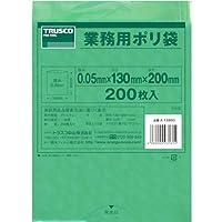 TRUSCO(トラスコ) 小型ポリ袋 縦200X横130Xt0.05 緑 (200枚入) A1320G