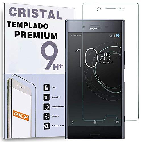 REY Protector de Pantalla para Sony Xperia XZ, Cristal Vidrio Templado Premium
