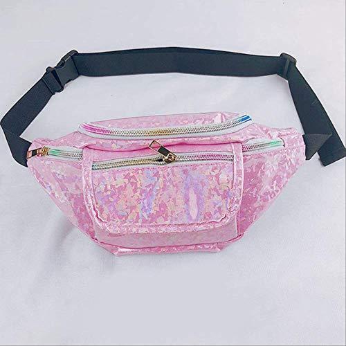 fhdc Taille Packs Nieuwste Punk Vrouwen Meisje Regenboog PVC Transparant Fanny Pack portemonnee Mode Taille Tas