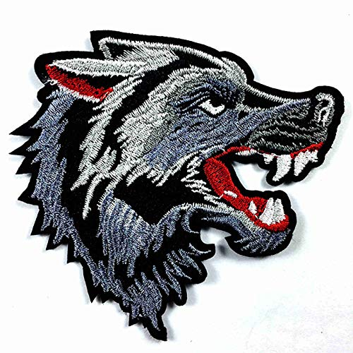 Animal Roar Tiger Wolf Head Iron On Patches Embroidered Sew...