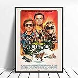 WDQFANGYI Érase Una Vez En Hollywood Carteles E Impresiones Quentin Tarantino Arte Pintura Lienzo Cuadros De Pared para Sala De Estar Decoración del Hogar 40X50Cm (FLL3839)