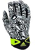 adidas Scream Adult Football Receiver's Gloves, White/Black, Medium