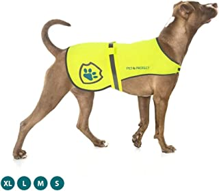 Pet & Protect Premium Dog Reflective Vest (Neon) High-Visibility Safety | Walking, Jogging, Training | Sizes to fit Small, Medium, Large, Extra-Large Breeds 16-130 lbs.