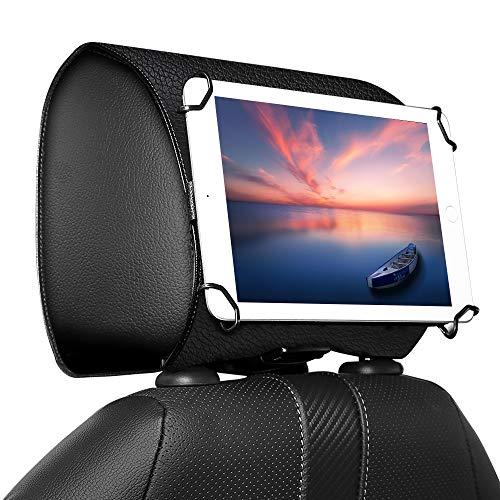 MoKo Car Headrest Holder, Universal Car Tablet Holder Headrest Mount Holder for 7' to 11' Tablet, Fit with iPad Pro 11 2020/10.5/9.7, iPad Air 3 2, Mini 5 4 3, iPad 4 3 2, Galaxy Tab - Black