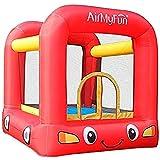 AirMyFun - Castillo Hinchable para Cama elástica Infantil con Ventilador y Bolsa de Almacenamiento, diseño de Jumpy Car de Jumpy Rojo/Amarillo A82005
