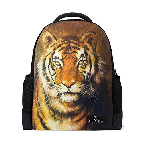 My Daily Tiger - Zaino da pittura per computer portatile, 14 pollici