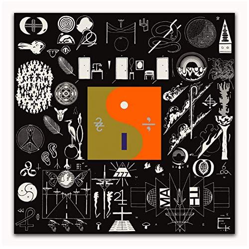 NRRTBWDHL Bon Iver 22 A Million Rockmusik Band Abstrakte Künstler Cover Art Poster Leinwand Malerei Dekoration Geschenk Home Decor-20x20 Zoll No Frame
