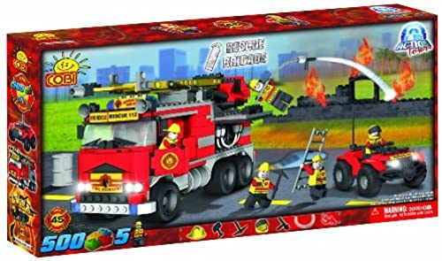 COBI Action Town Fire Rescure Brigade, 500 Piece Set by COBI