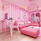 Carfeny DIY壁紙 ウォール ステッカー Wall stickers 子供の部屋の装飾 約53cm×10m (ピンク)