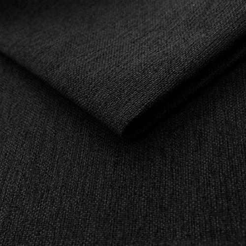 HEKO PANELS Mona Polsterstoff Möbelstoff Meterware - z.B. Stoff für Stühle oder Eckbank Bezug - Graphit