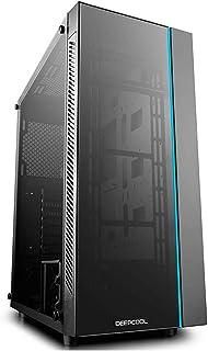 DeepCool MATREXX 55 Midi-Tower Negro - Caja de Ordenador (Midi-Tower, PC, De plástico, SPCC, Vidrio Templado, Negro, ATX,EATX,Micro ATX,Mini-ITX, 16,8 cm)