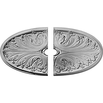 Ekena Millwork 24 3/4-Inch W x 12 1/2-Inch H x 1 3/4-Inch D Madrid Ceiling Medallion
