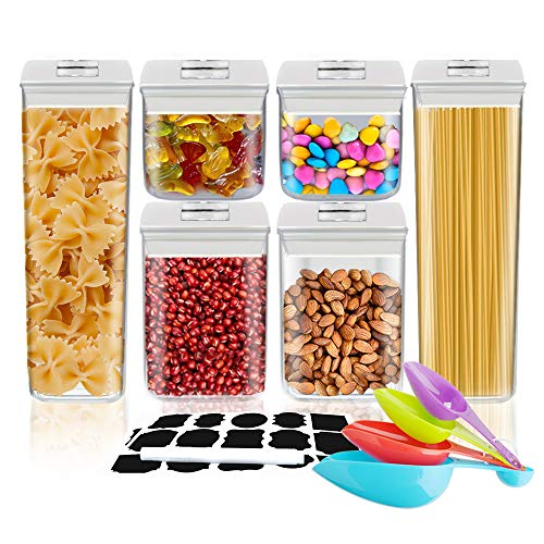 Airtight Food Storage Containers - UOUNE Stackable Cereal Storage Container Set with Lids BPA Free -...