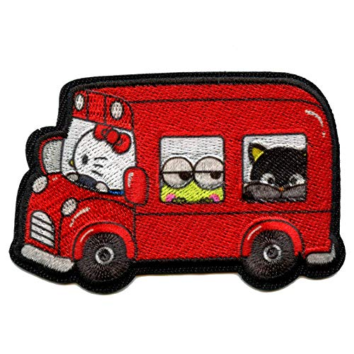 Hello Kitty Driving Bus Keroppi & ChocoCat Patch Iron On Embroidered