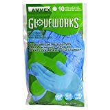 AMMEX Nitrile Disposable Gloves - 10/pack, Powder Free, 4 mil, Uni-size, Blue, Case of 250 - GWN10PK