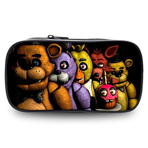 Five Nights at Freddy's Astuccio per Matite Borsa cosmetica impermeabile del sacchetto della borsa di stoccaggio di caso semplice selvaggio della penna della matita di stile per gli studenti