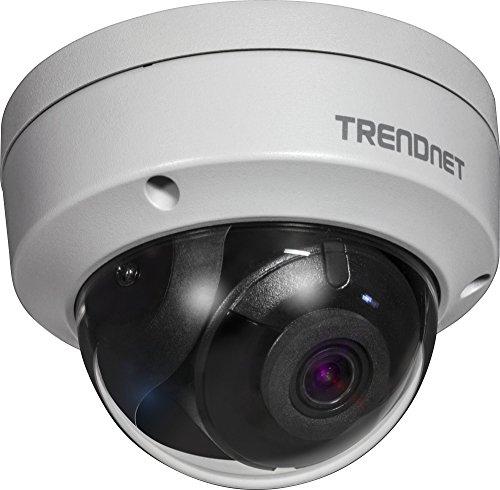 TRENDnet TV-IP327PI Innen/Außen 2MP H.265 WDR PoE IR Kuppel Netzwerk Kamera, IR Nachtsicht bis zu 30m (98 Fuß), IP67 Schutzklasse, Aufzeichnung nach Bewegungsmeldung