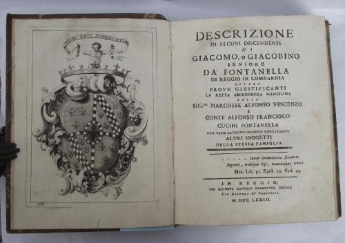 Descrizione di alcuni discendenti di Giacomo, o Giacobino Seniore da Fontanella di Reggio in Lombardia ovvero prove giustifican