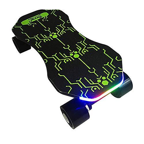 SHEHUIREN Elektrisches Skateboard Longboard Mit Funkfernbedienung Auf Vier Rädern,Höchstgeschwindigkeit 20Km/H Zu Senden des Ladegeräts Fernbedienung