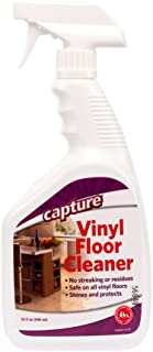 Capture Vinyl Floor Cleaner 32 oz - No Streaking or Residues and Breaks Down enzymes - No Rinse Required