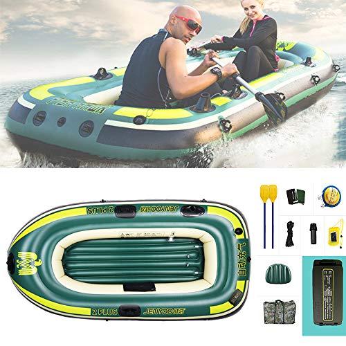 FFYUE 2 Personas, Caucho Inflable automático, Inflable, rápido y fácil de Transportar Barco de Pesca Inflable, Caja Fuerte y Resistente al Desgaste