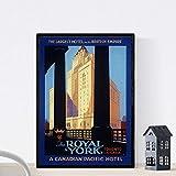 Nacnic Affiche Vintage Affiche Vintage pour l'Hôtel Royal York à Toronto, Canda. Format A4