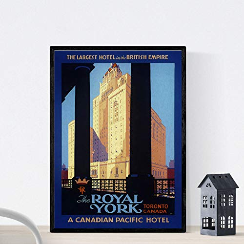 Vintage poster Nacnic. Vintage poster voor het Royal York Hotel in Toronto, Canda. A4-formaat