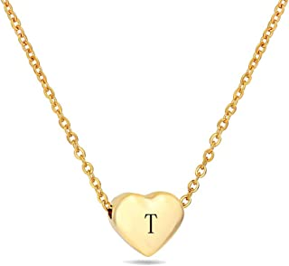 Best letter t necklace gold Reviews
