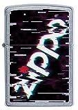 ZIPPO Mechero Recargable con Logotipo Zippo, Imagen a Color, Cromo Callejero, en Caja de Regalo
