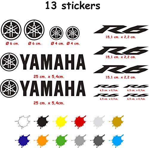 Kit de Pegatinas Troqueladas Compatible Yamaha r6 Vinilo 5 a
