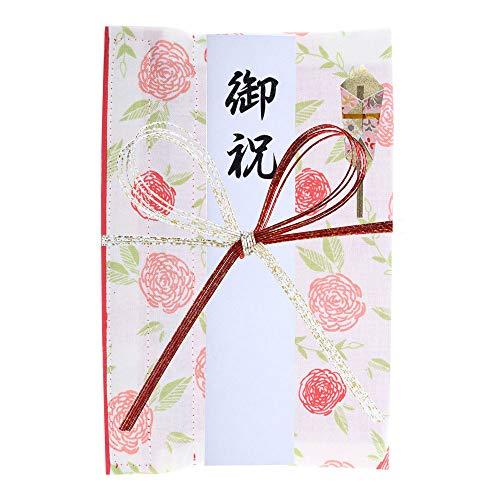 巾着袋に変わるご祝儀袋 一般御祝用 コットン (花咲(赤))