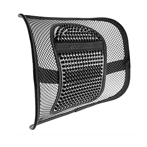 Respaldo de malla para asiento de coche, almohadilla de malla para la cintura, soporte para la espalda para silla de oficina, asiento de coche, silla de casa