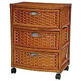Oriental Furniture 23' Natural Fiber Chest of Drawers - Honey