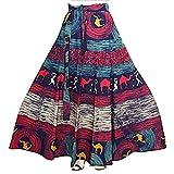 kalpit creations Women Maxi Skirt (k.camel.wrap01_Multicolored_Free Size)