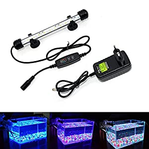 VARMHUS-LED-Aquarium-Beleuchtung-Aquarium-Lampe-Wei-und-Blau-Farbwechsel-Tauch-Aquarium-Licht-mit-kleinen-einfachen-Aquarium-Zeitschaltuhr-fr-Sonnenaufgang-und-Sonnenuntergang