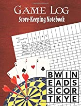 Game Log: Score-Keeping Notebook - Family Game Journal