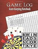 Game Log: Score-Keeping Notebook - Family Game Journal