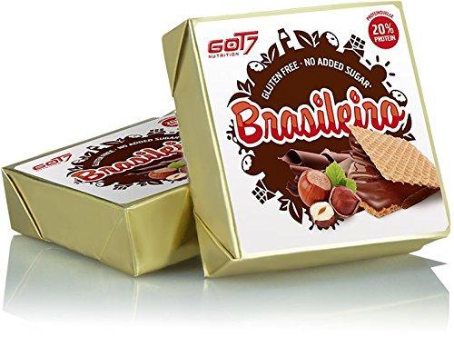 Got7 Brasileiro Waffel Proteinreiche Kakaocreme Haselnüssen Glutenfrei Fitness Diät Bodybuilding 14er Box