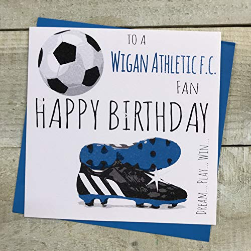 Wigan Athletic FC Football Club Birthday Card - by WHITE COTTON CARDS - 21