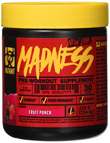 Mutant - Madness Pre-Workout Booster Trainingsbooster (30serv. - 225g) - Fruit Punch