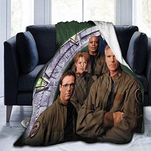 Yuantaicuifeng Manta de Tiro Stargate SG1 Manta de Forro Polar con Peso Ultra Suave Adecuada para sofá Cama Oficina 60 'x 50' Viajes de Varios tamaños para Adultos