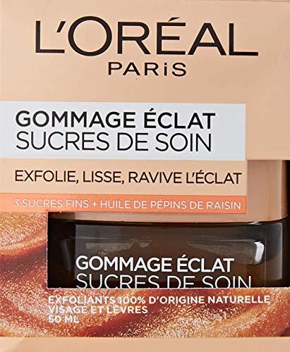 L'Oréal Paris – Gommage éclat pour le visage et les lèvres – Sucres de soin – 50 ml