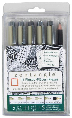 Sakura 50011 11-Piece Zentangle Clamshell Pencil Set