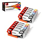 JetSir Compatible Ink Cartridge Replacement for Canon PGI-270 XL CLI-271 XL(2 Set),Compatible with Canon Pixm MG6820 MG6821 MG6822 MG5720 MG5722 MG5721 TS5020 TS6020 Printers