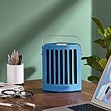 HAPPY-BELT Heater Portátil, Calefactor cerámico con Oscilación Automática, Calefactor Vertical con Temporizador, Calefactor De Espacio Personal para Baño Oficina Salón