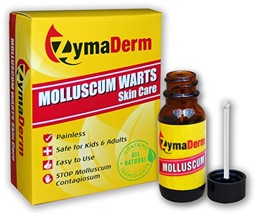 ZymaDerm Molluscum Warts Skin Care, Natural, Gentle, Painless, 13 ml